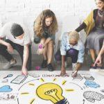 creative employees having ideas